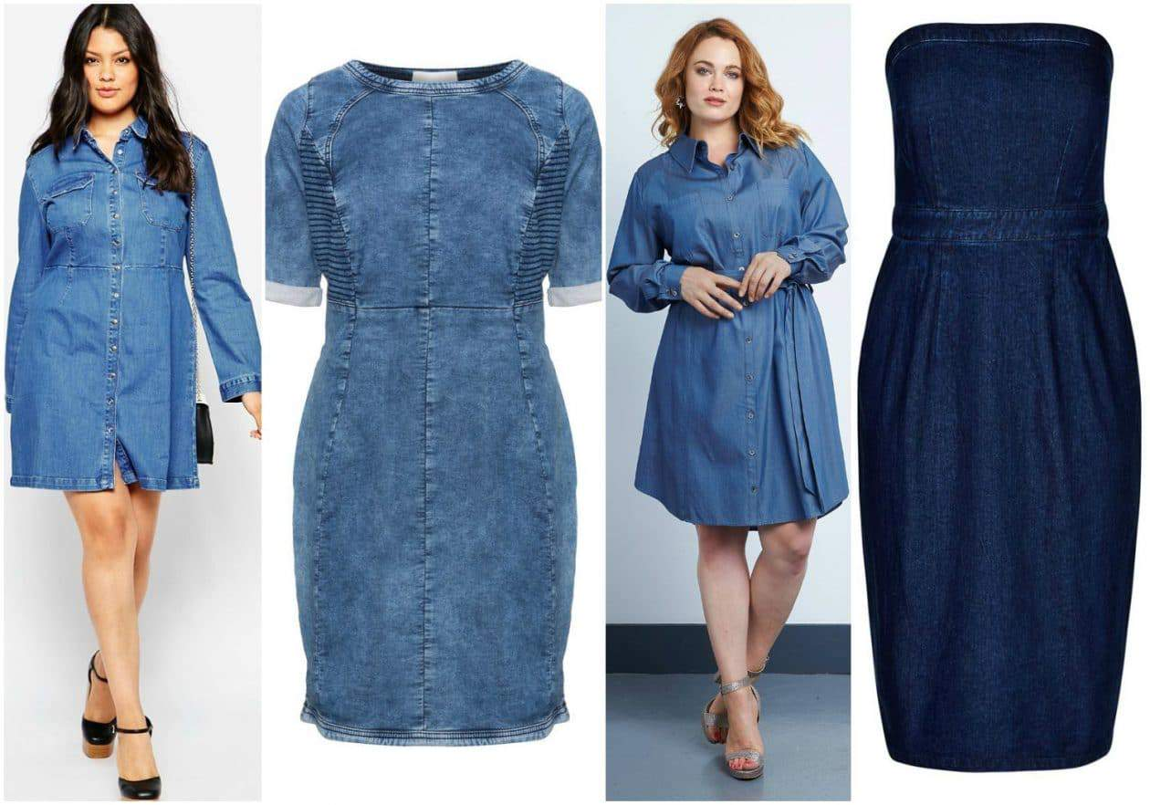 A New Wardrobe Classic The Plus Size Denim Dress And 10 Picks For You