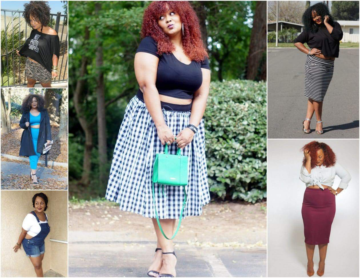 Plus size blogger Marie Denee in her Crop Top #RocktheCrop