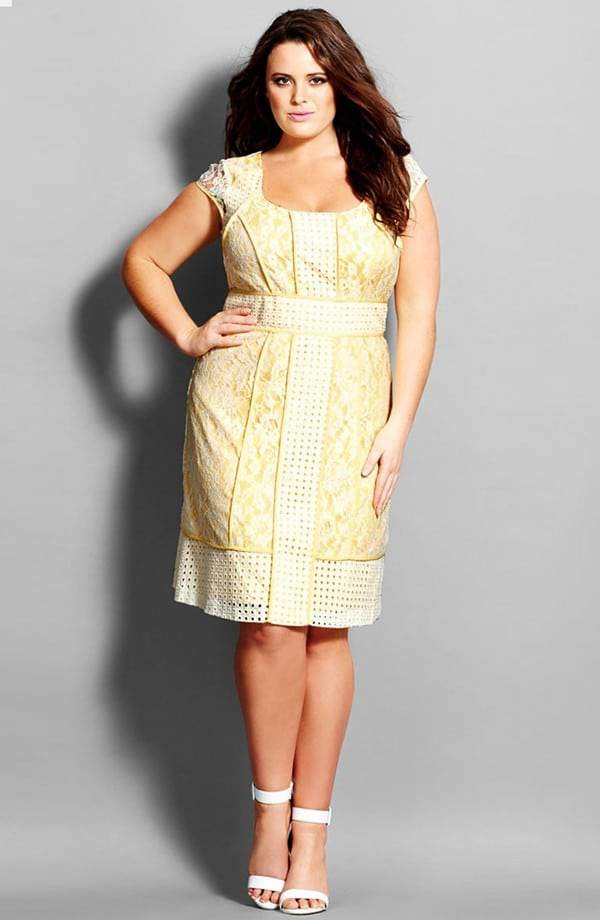 Ten Flirty and Playful Yellow Plus Size Dresses on The Curvy Fashionista #TCFStyle