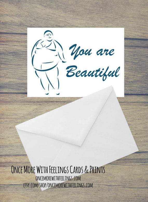 Once More With Feelings Cards- You Are Beautiful