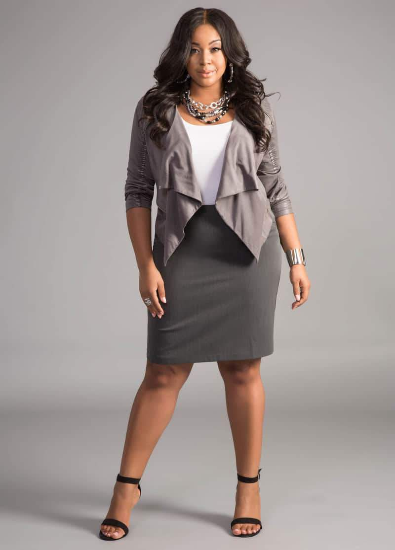 Plus Size Suiting and Wear to Work Options with Ashley Stewart on TheCurvyFashionista.com #TCFWork