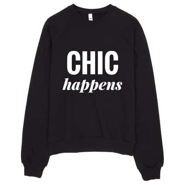 The Curvy Fashionista #ShopTCFStyle Chic Happens Hoodie