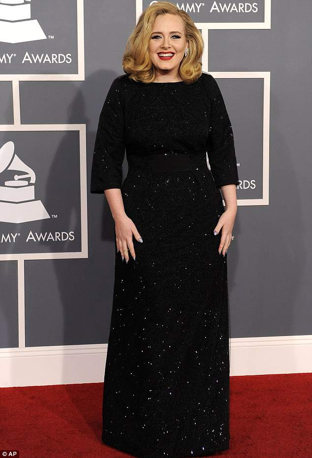 Adele at the 2012 Grammys