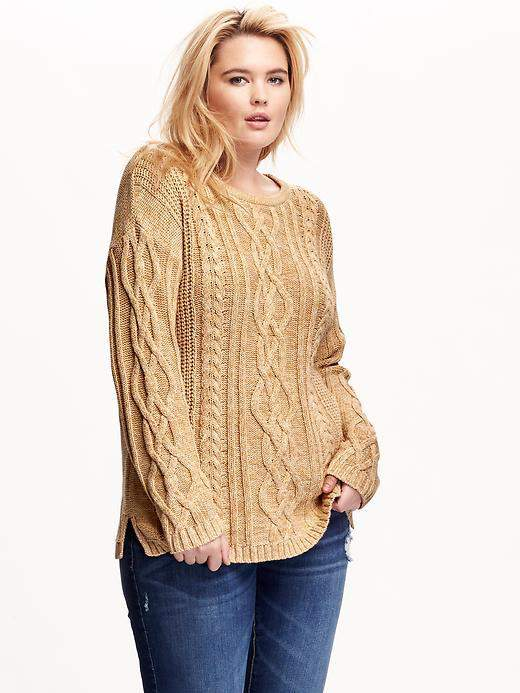 Chilly Cozy Up In These 11 Must Have Plus Size Chunky Knit Sweaters