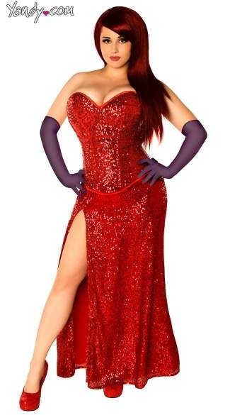 Plus size Jessica Rabbit Costume from Yandy
