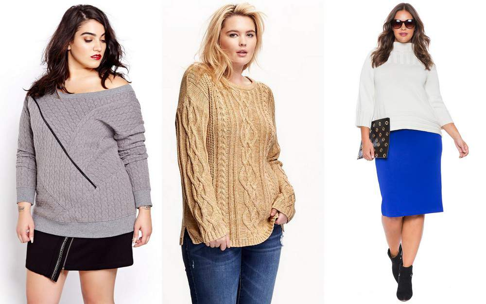 11 Must Have Plus Size Chunky Knit Sweaters on The Curvy Fashionista