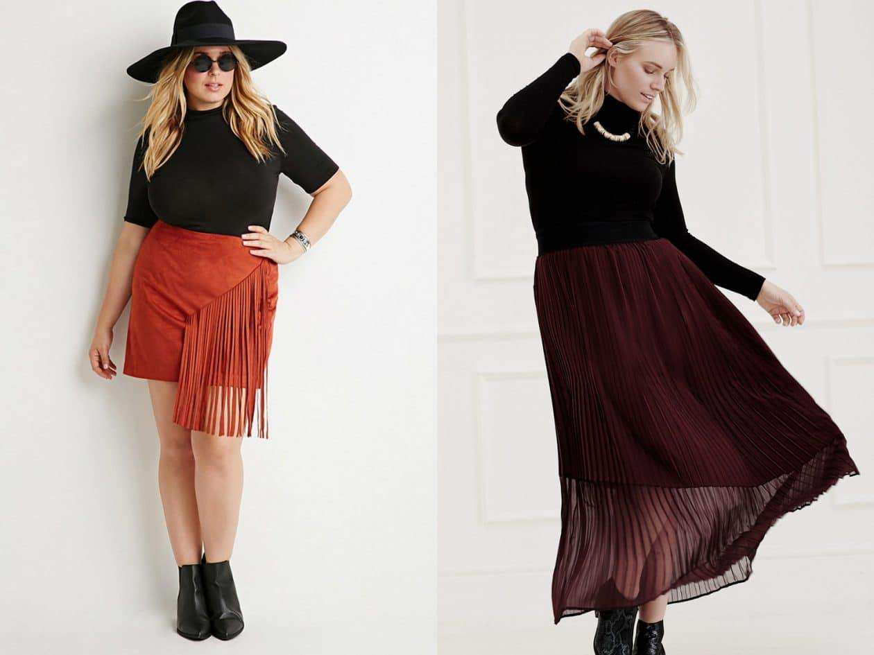7 Petite Plus Size Skirt Trends for Fall you Can Wear