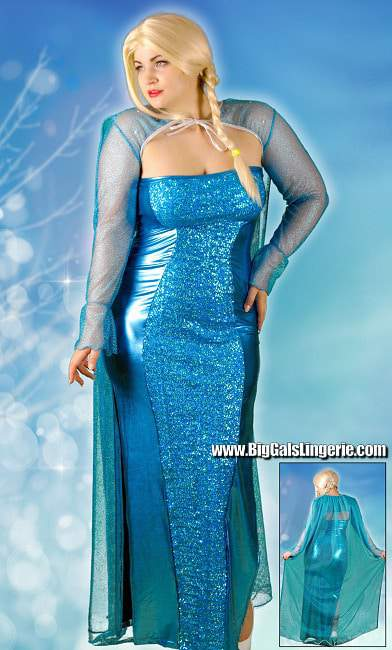 Plus Size Ice Queen Costume from BigGalsLingerie