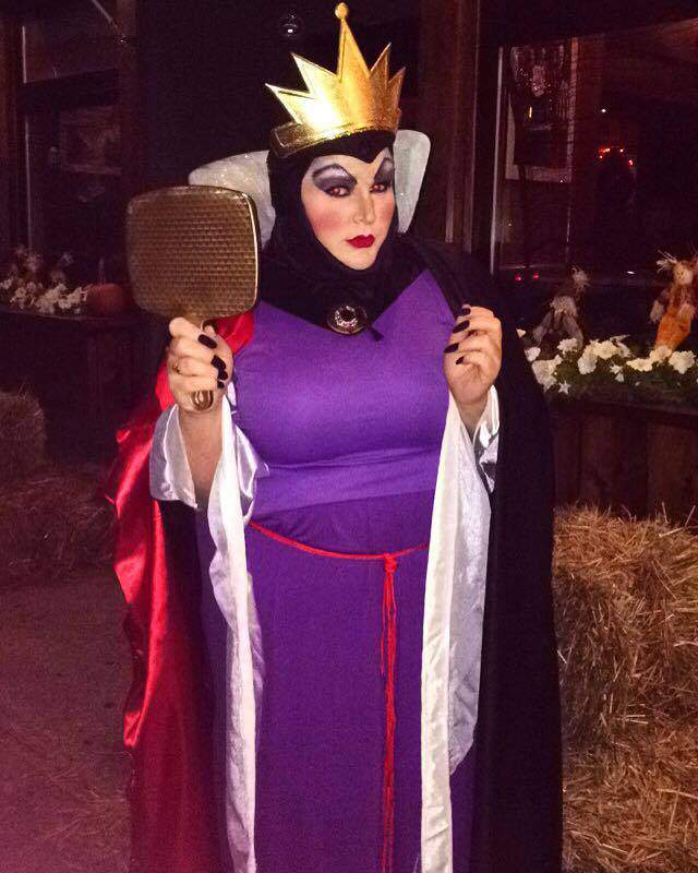 15 Plus Size Halloween Costumes that WOWED Us- Little Lime Dress as The Evil Queen