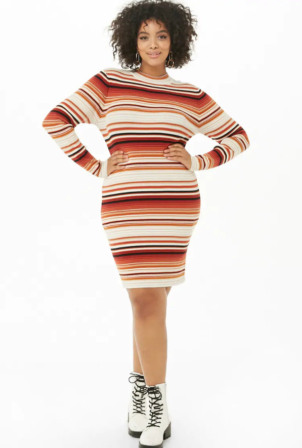 Fall Plus Size Sweater Dresses: