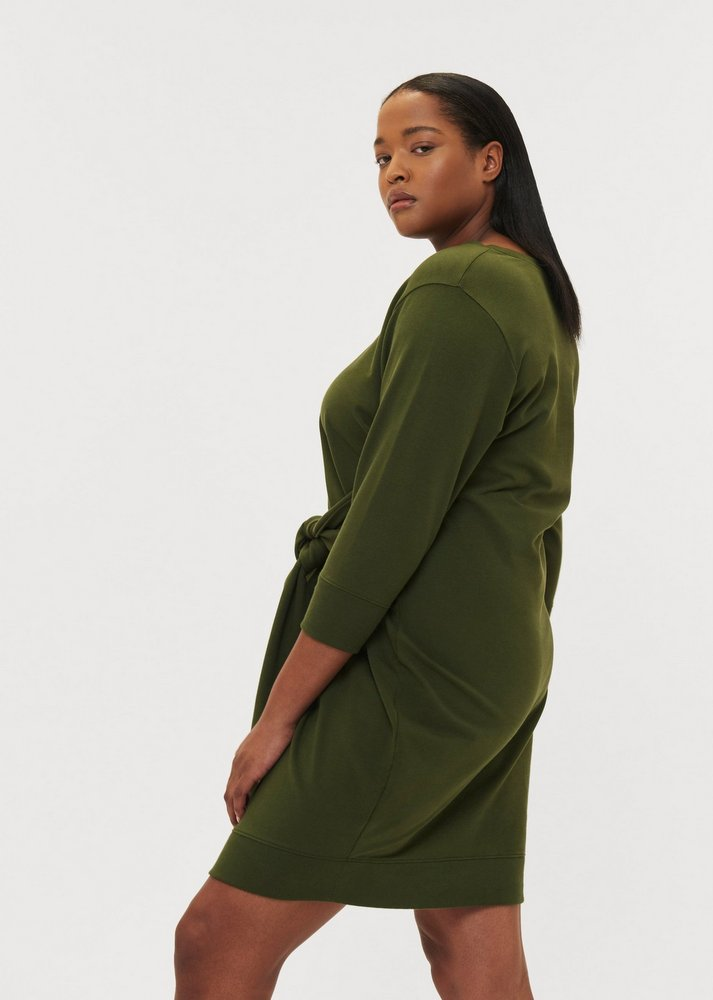 Fall Plus Size Sweater Dresses: Misa Dress in Camo