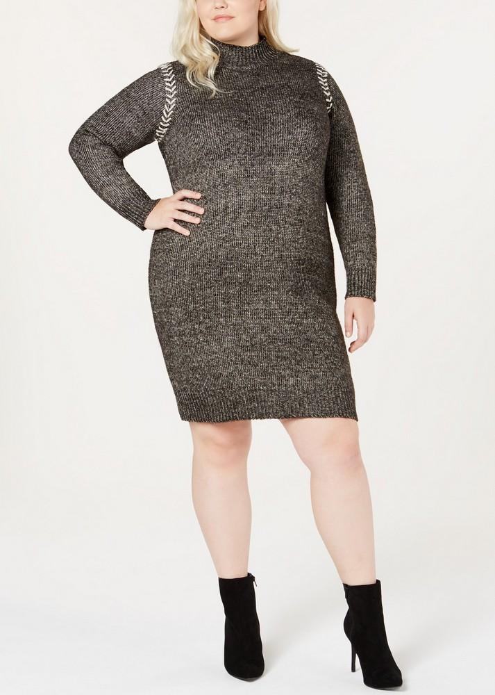 173184ce646 Fall Plus Size Sweater Dresses  One A Plus Size Whipstitched Sweater Dress