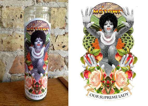 "DIANA ROSS Altar/ Prayer Candle: ""Our Supreme Lady"""