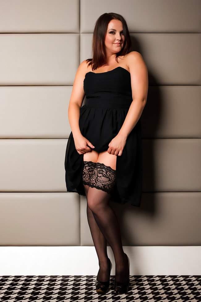 a spotlight on glamory plus size hosiery | the curvy fashionista