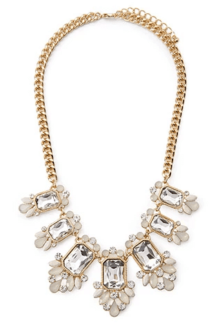 Forever 21 Rhinestone Necklace