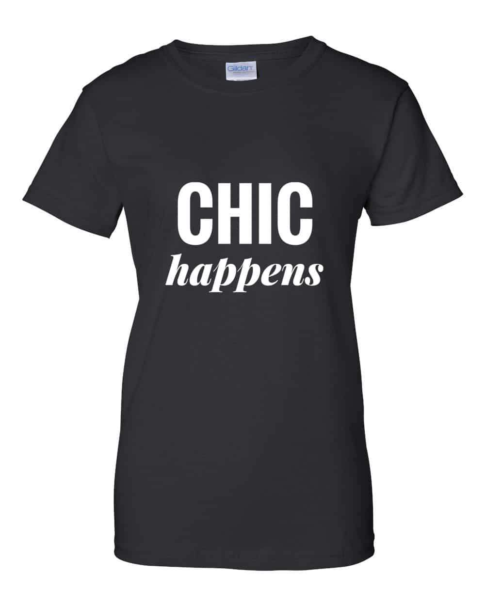 The Curvy Fashionista #ShopTCFStyle- Chic Happens Tee