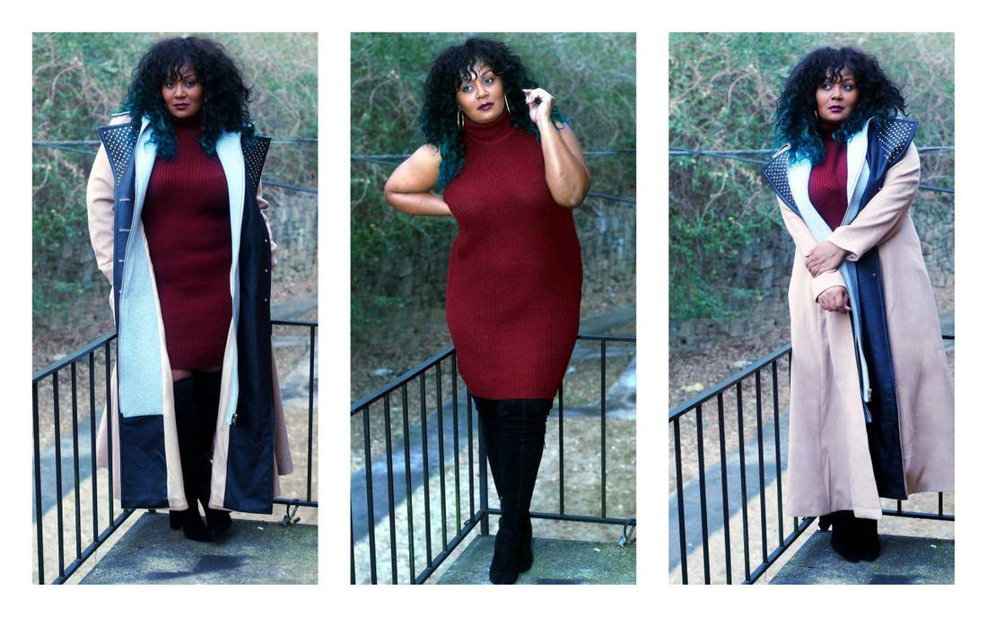 My Style: Keeping it Cute in Sweater Dresses and Over the Knee Boots