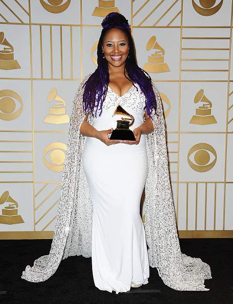 Lalah Hathaway at the 58th Grammy Awards