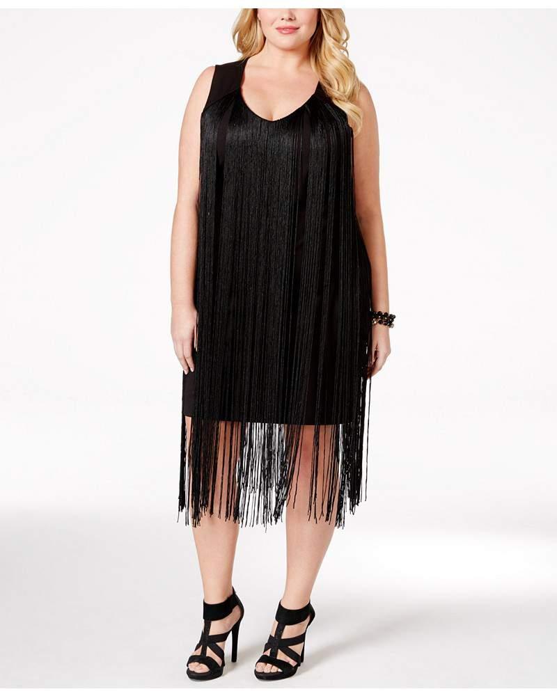 plus size sleeveless fringe dress – the curvy fashionista