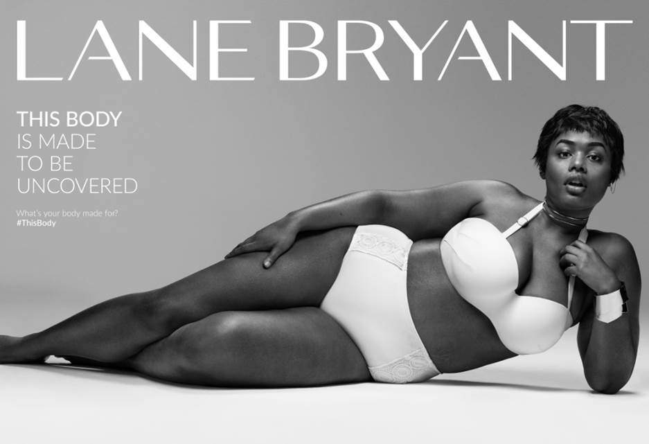 Precious Lee in the Lane Bryant Video and Ad in Sports Illustrated