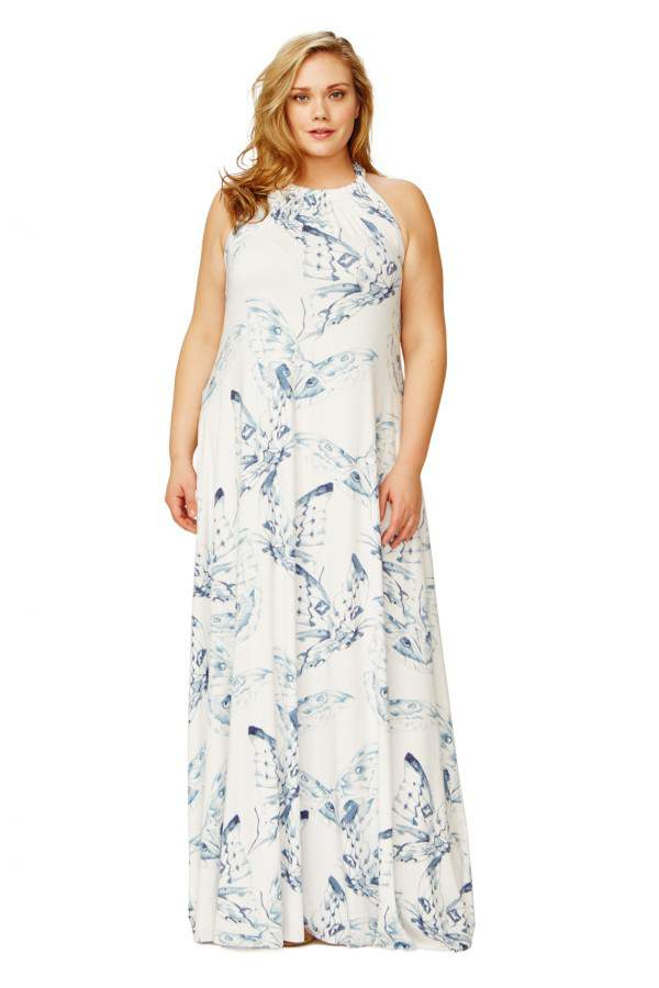 Renee Dress in Eclipse Mariposa Print