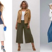 Plus Size Wide Leg Crop Pants