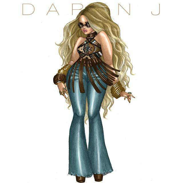 Fashion Illustrator- Daren J Plus Bohemian Babes Collection