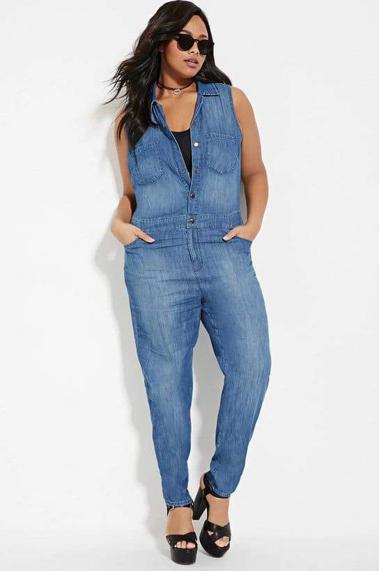 plus size denim jumpsuit (2) – the curvy fashionista