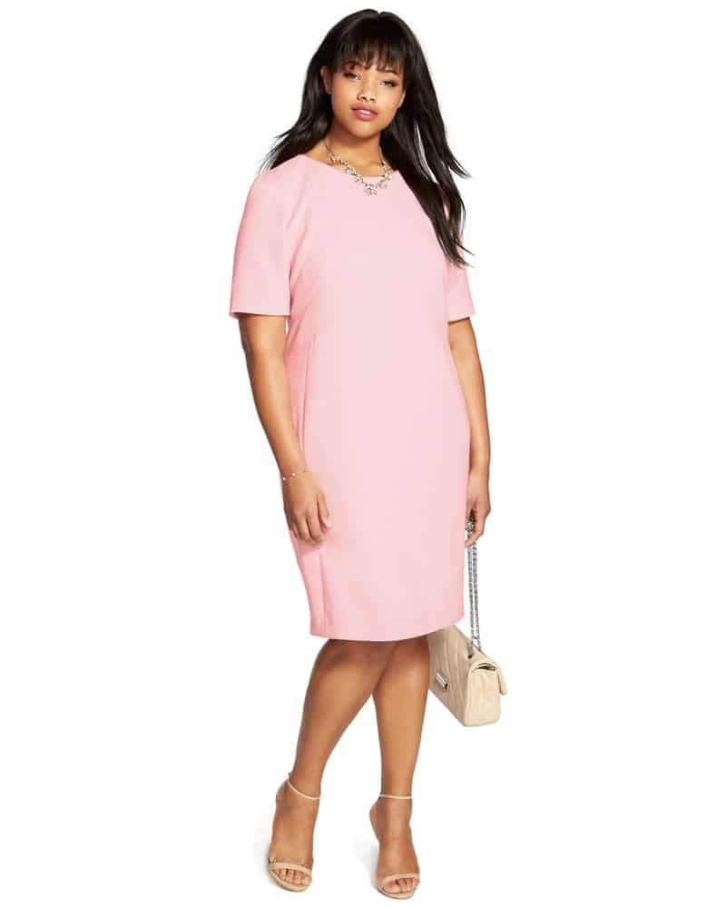 Seamed Elbow Sleeve Sheath Dress by Eliza J