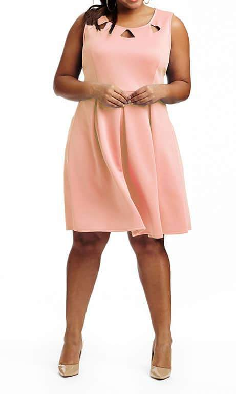 Tess Scuba Fit & Flare Dress by Modamix