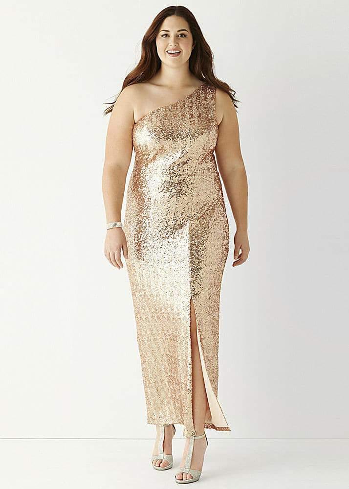 Be Smart One-Shoulder Sequin Long Slim Dress