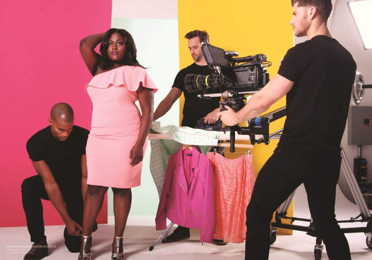 Christian Siriano for Lane bryant featuring Danielle Brooks