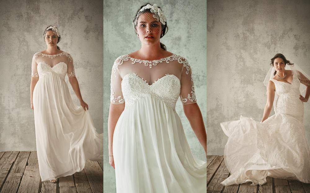 For the Plus Size Bride: Oleg Cassini for David's Bridal