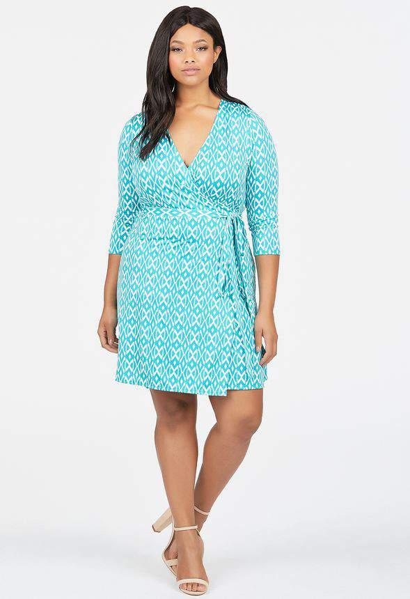 Just Fab Plus Size Wrap Dress