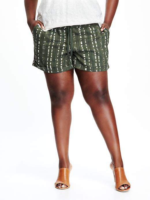 Mid-Rise Linen Plus Size Shorts at Old Navy
