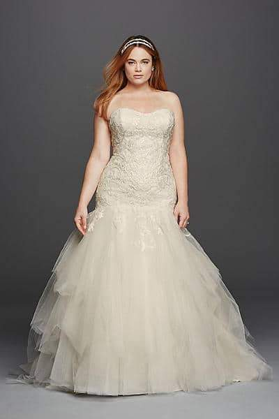 For the Plus Size Bride: Oleg Cassini for David\'s Bridal