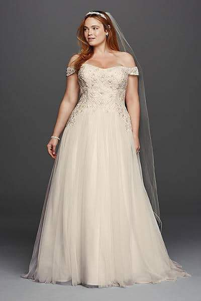 for the plus size bride oleg cassini for david s bridal