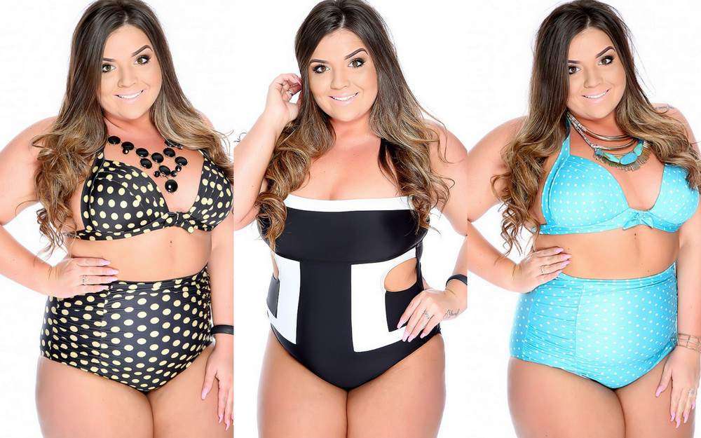 Plus size swimwear and bikinis at AmiClubWear.com