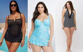 25 Plus Size Swimdresses Perfect for Summer on The Curvy Fashionista: