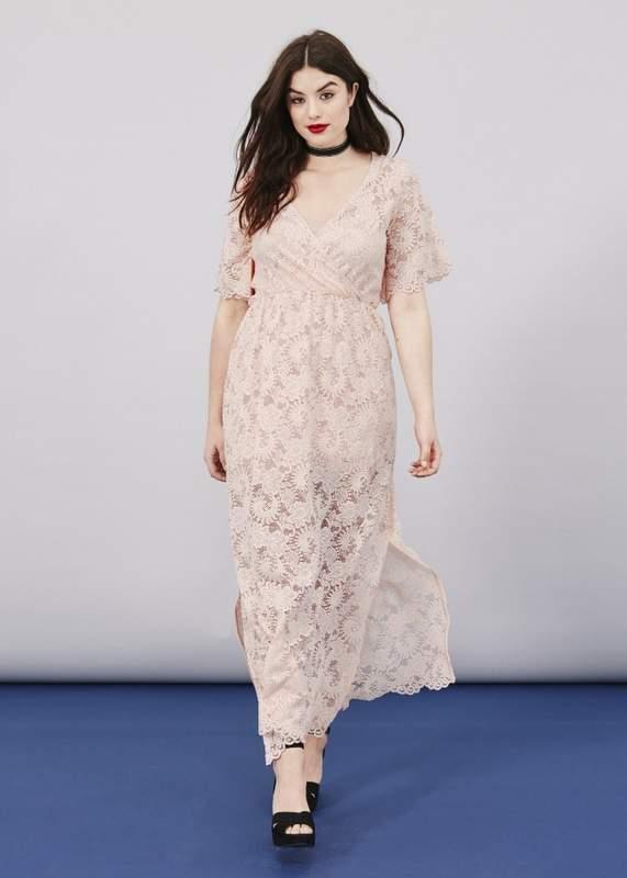 Lace Wrap Maxi Dress
