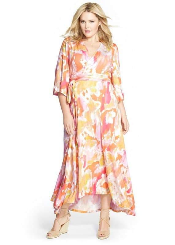 Love Squared Plus Size Halter Polka-Dot Maxi Dress 2