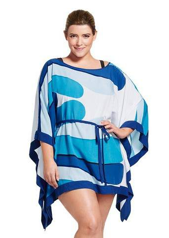 15 Plus Size Cover Ups: Marimekko for Target Women's Plus Size Cover Up in Albatrossi Print