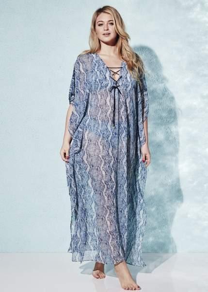 15 Plus Size Cover Ups: Melissa Odabash Plus Size Maxi Kaftan