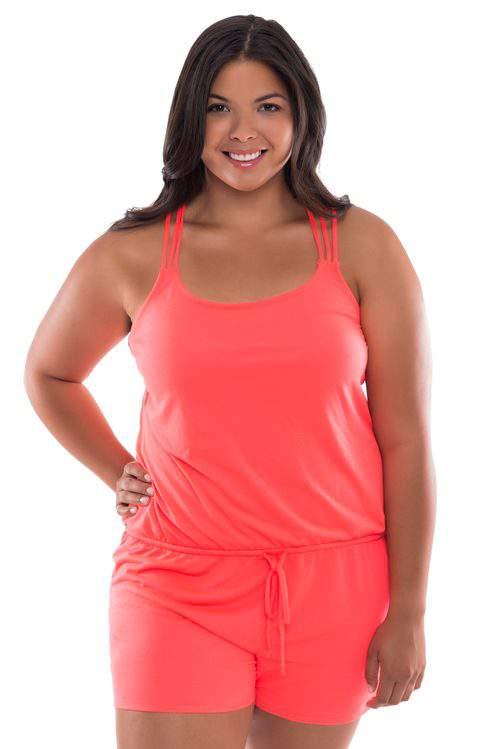 Moxi Blu Women's Plus-Size Playsuit