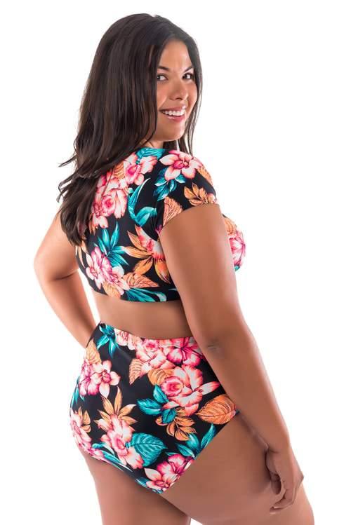 Moxi Blu Women's Plus-Size TropicalCrop