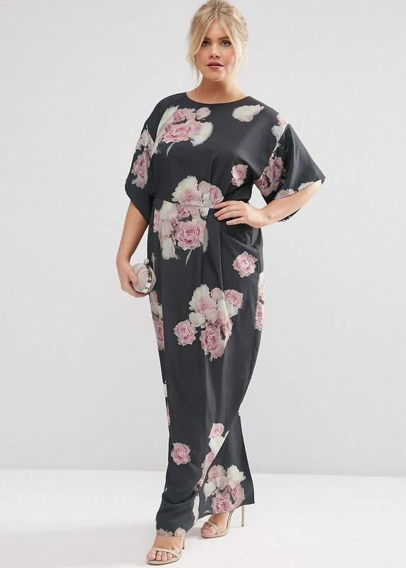 SALON Spaced Floral Maxi Dress