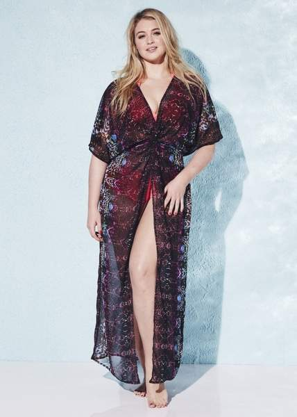 15 Plus Size Cover Ups: Simply Yours Plus Size Maxi Kaftan