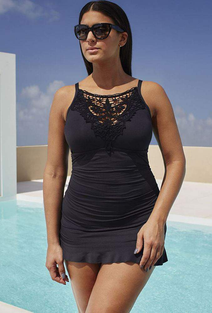 25 Plus Size Swimdresses Perfect for Summer on The Curvy Fashionista: Venise Swimdress by Becca Etc