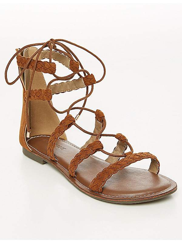 Braided Gladiator Sandal at Lanebryant