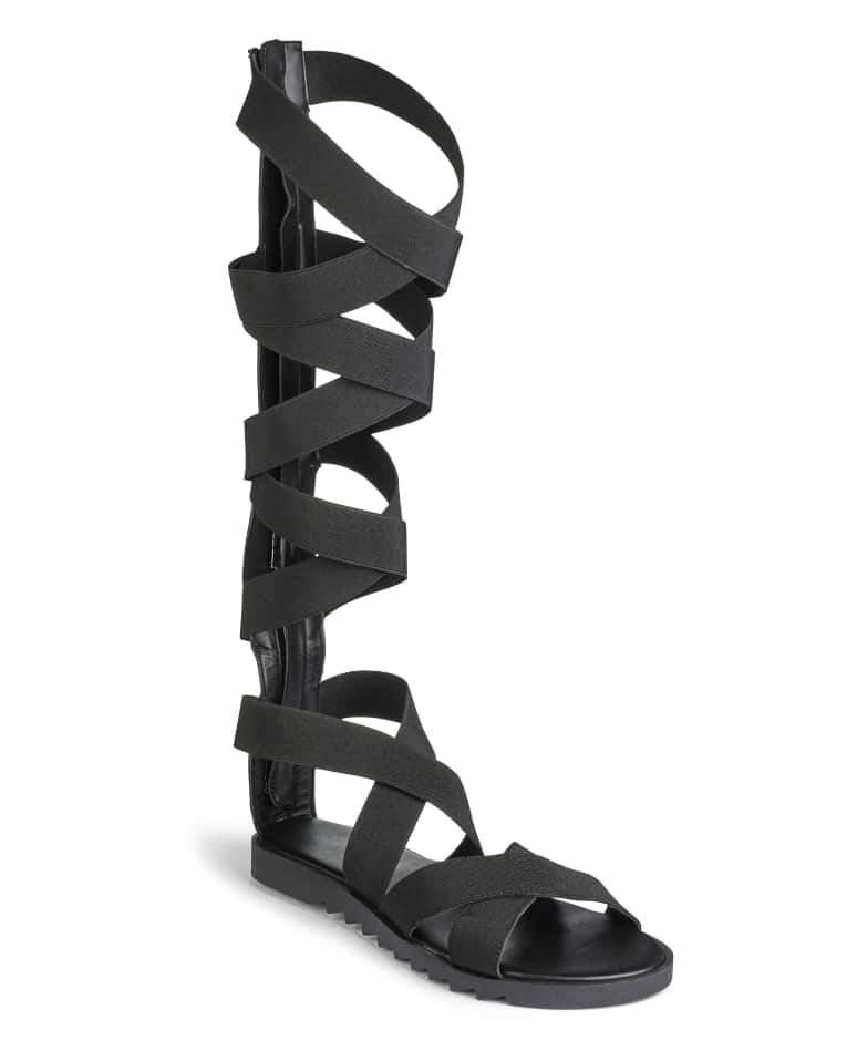 Sole Diva Elasticated Wide Calf Gladiator Sandals